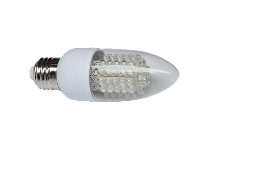 led candle light;E27 base;2.5W;300lm;size:42*120mm;warm white