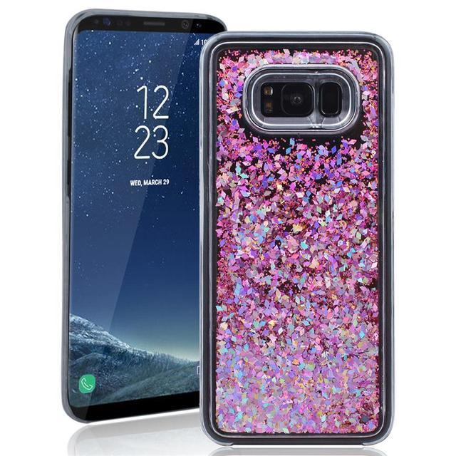 samsung s8 flip phone case glitter