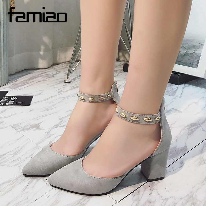Women Pumps High Heels Sexy 2017 Elegant Pumps Platform Party Wedding Shoes Slip On Shoes Woman Prom Rivet Zapatos Mujer Zip vtota high heels thin heel women pumps ol pumps offical shoes slip on shoes woman platform shoes zapatos mujer ladies shoes g56