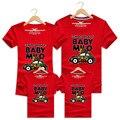 Família camisetas verão dos desenhos animados do carro da família roupas combinando roupas mãe e filha pai e filho clothing curta-manga