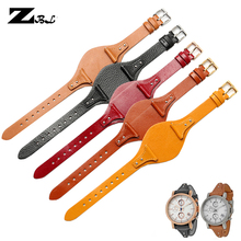 genuine leather bracelet red watchband for fossil watches ba