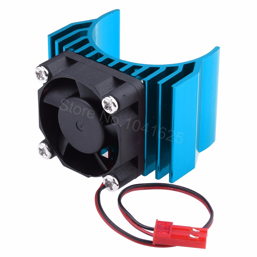 Aluminum Heat Sink With DC 5V Cooling Fan Electric Engine Heatsink for 1/10 Scale RC Car 540 550 3650 Size Motor aluminum water cool flange fits 26 29cc qj zenoah rcmk cy gas engine for rc boat