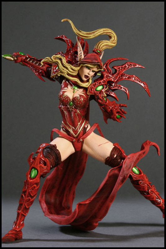 WOW Figure Model Sylvanas Windrunner Night Elf Hunter: Alathena Moonbreeze Classic Game Toys For Boys In Retail Box christian cross 3d model relief figure stl format religion 3d model relief for cnc in stl file format
