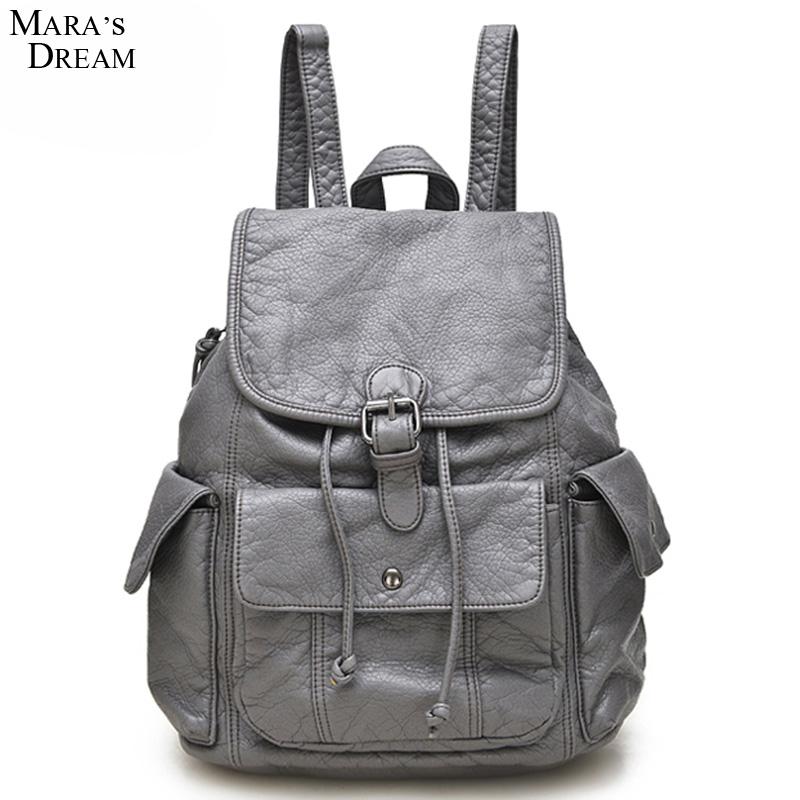 Mara s Dream Women Backpack Multifunction Soft PU Zipper Solid Color Softback Drawstring Travel Backpack Designers