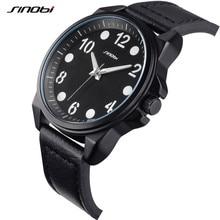 SINOBI 2016 Luxury Brand Men Sports Watches Men'S Quartz Clock Fashion Casual Leather Strap Army Military Male Wrist Watch AA241