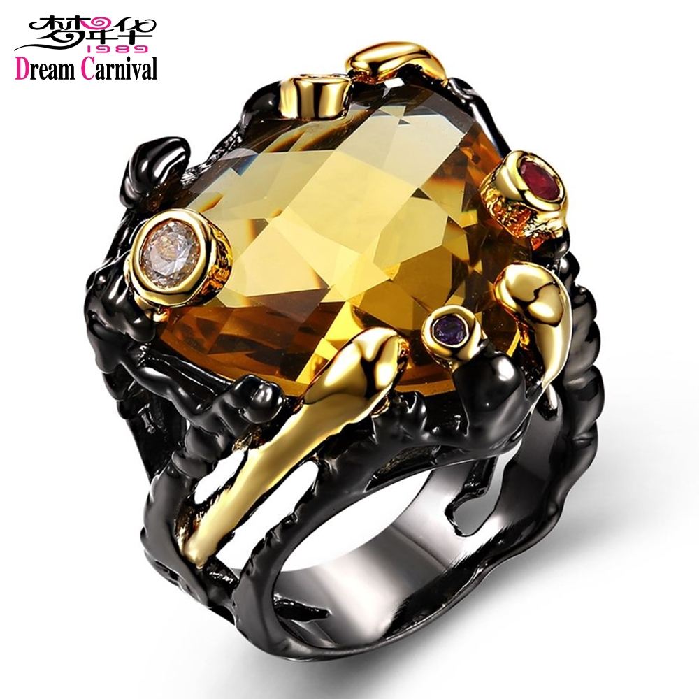DC1989 New Arrival Jewelry Black Gold Plated Main Topaz Multi Cubic Zirconia Lead Free Evening Cocktail