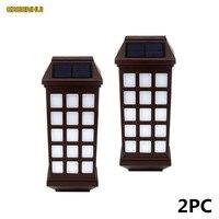 2Pcs Lot LED Solar Light Waterproof IP55 Led Sensor Solar Lamp Outdoor Light Path Roof Corridor