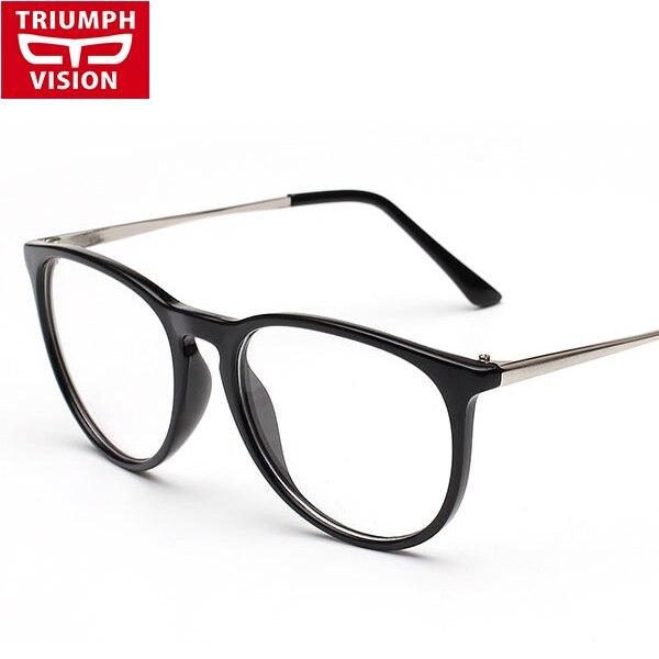 18084514232 2015 New Fashion Eyeglasses Frames Men Big Metal Glass Frame Women. TRIUMPH  VISION Prescription Eye Glasses Graduated Computer Oculos .