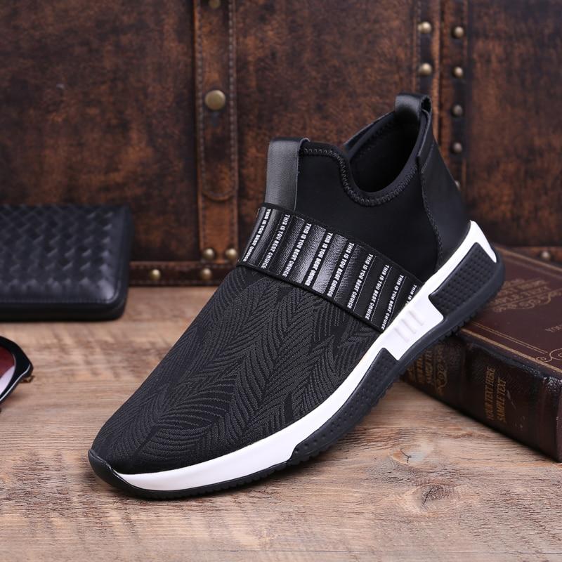 Para De Caliente Cuero Hombres Fondo Los Zapatos Moda Lona Alto Negro Top Casual Hombre Mycolen Grueso Genuino Del Otoño Transpirable Invierno Pq8wnfn