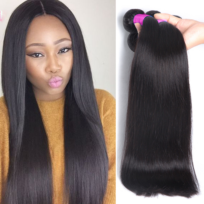 Unprocessed Malaysian Virgin Hair Straight 1 Bundle Only ...