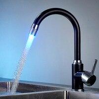 Изменение цвета кухня кран смесителя контроль температуры очиститель бассейна ванная комната экономии воды прочный домашняя заявка