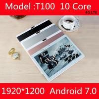 10.1 inch tablet pc Deca 10 lõi MTK6797 3 Gam 4 Gam GPS Android 7 4 GB 64 gb/128 gb Phablet Pc 10 Dual Camera 8.0MP 1920*1200 IPS màn hình