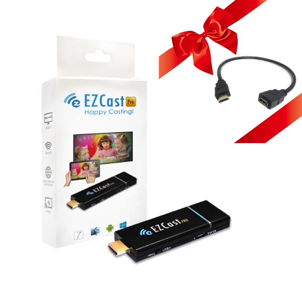 EZCast pro HDMI 1080P HDMI Mirror2TV Dongle TV Stick Airplay Player Black Free Shipping compact usb worldwide internet tv radio games mtv movie player dongle black