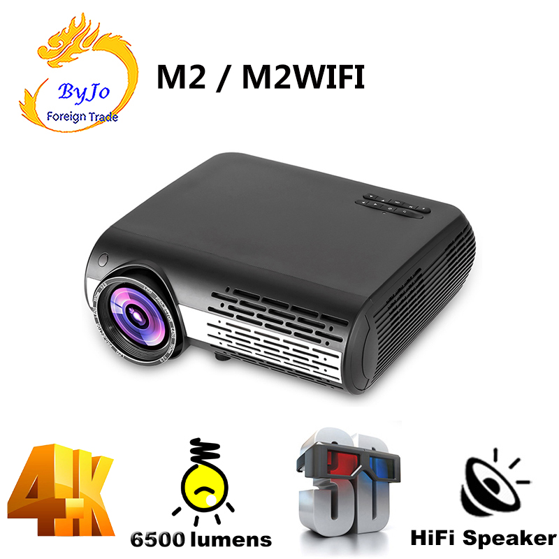 Poner Saund M2 LED 4K 2K 1080P projecteur FULL HD 6500 Lumens 3D Home cinéma Android 6.0 Bluetooth 5G WIFI HDMI USB Vs LED 86
