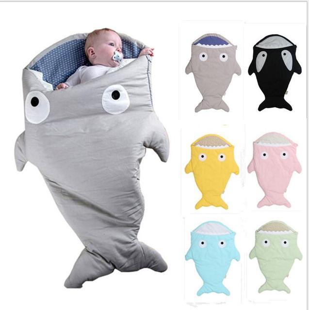 Горячая распродажа милый мультфильм акула сон зима мешок ребенка спать теплое одеяло теплый пеленальный