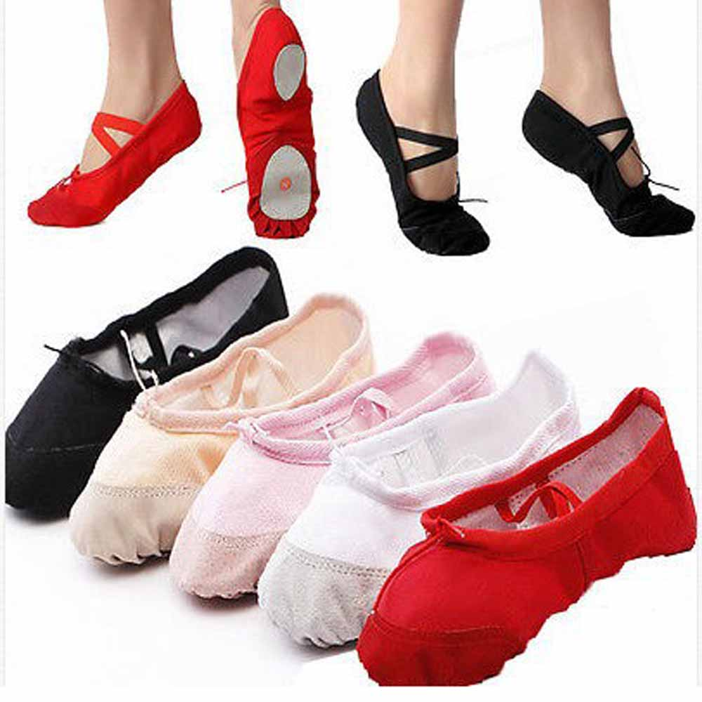 Female Adult Soft Dancing Ballet Shoes for Women Comfortable Fitness Breathable Canvas Practice Gym Ballet Pointe Dance Shoes(China)