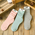 2016 New Womens Girls Candy Color Socks 1 pair Cotton Ruffle Soft Korean Autumn Winter Ankle Socks For Women Lady Femininas