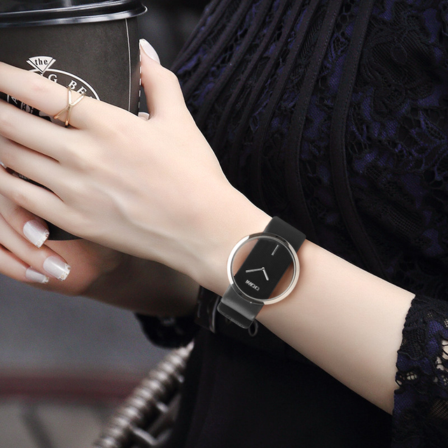 DOM Orologi donne top brand di lusso Casual di Cuoio femminile orologio Al Quarzo Orologio della ragazza del vestito da polso relogio montre femme saati LP -205