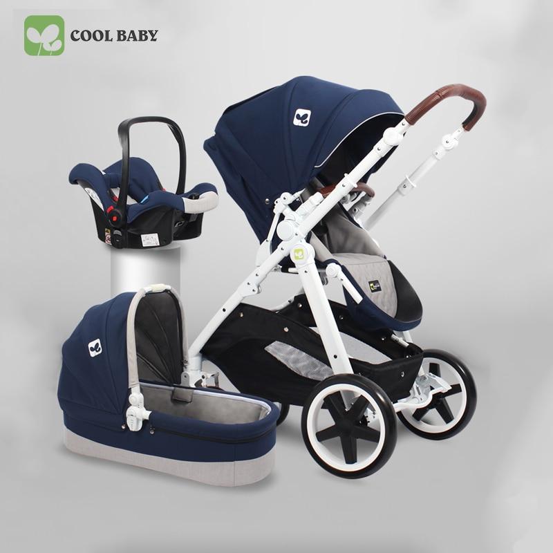 цены Free ship ! high quality 3 in 1 pram European royal high landscape stroller Two-way Shock Proof Trolley newborn stroller 2 in