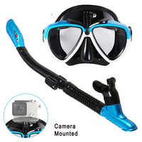 Lixada Anti-Fog Swimming Mask Snorkel Diving Mask Scuba Diving Mask Underwater Snorkel Mask Diving Equipment With Camera Mount