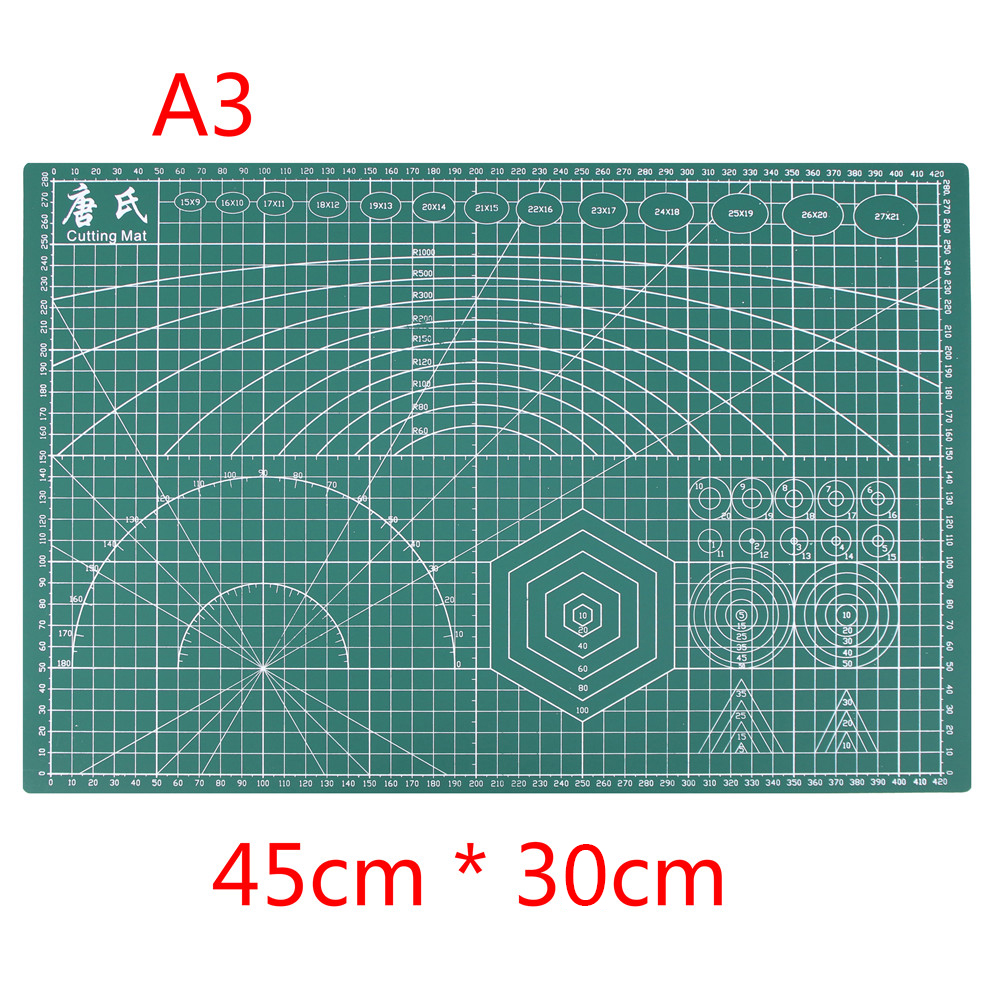 A3 PVC Rectangle Grid Lines Self Healing Cutting Mat Tool Fabric Leather Paper Craft Diy Tools 45cm * 30cm a4 grid lines cutting mat craft card fabric leather paper board 30 22cm
