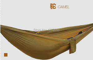 Image 2 - Podwójny hamak Camping Survival hamak tkanina spadochronowa przenośny dla dwóch osób hamak hamak spadochronowy 260*140 CM