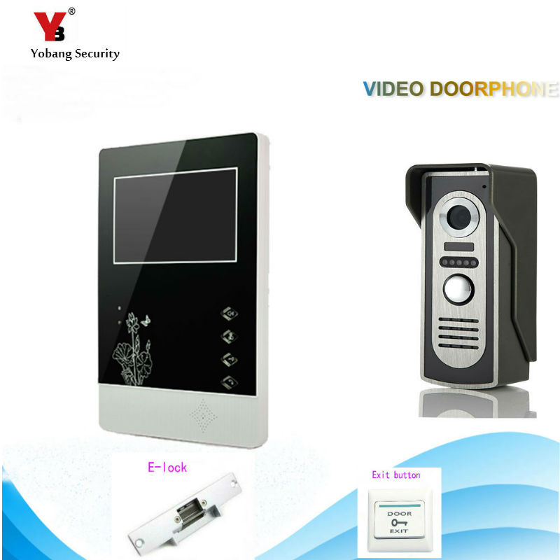 Yobang Security freeship 4.3 Video Door Color Video Monitor Kit Video Door Phone Intercom Door bell Doorbell Night Vision yobang security freeship 4 3 inch video door color video monitor kit video intercom and video doorbell ir camera night vision
