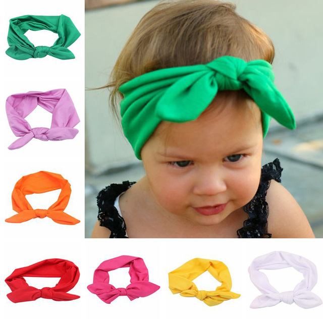 Baby Shower Bow Knot Headband for Chilren Girls Boy Party Birthday Beauty Turban Headbands Soft Accessories