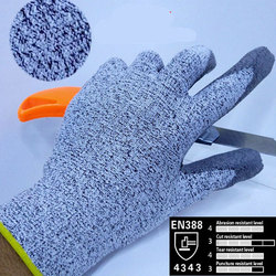 2016 cheapest uhmwpe anti cut gloves cut resistance gloves with pu on palm cut proof safety.jpg 250x250