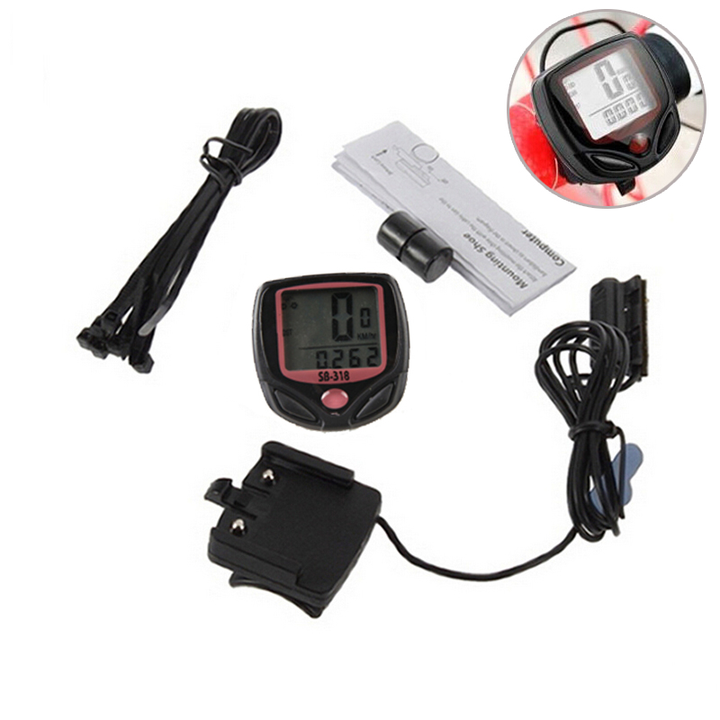 HOT! Waterproof Bike Computer,Bicycle Meter Odometer Speedometer With LCD Display,Cycling Computer Velocimetro Wired Stopwatch