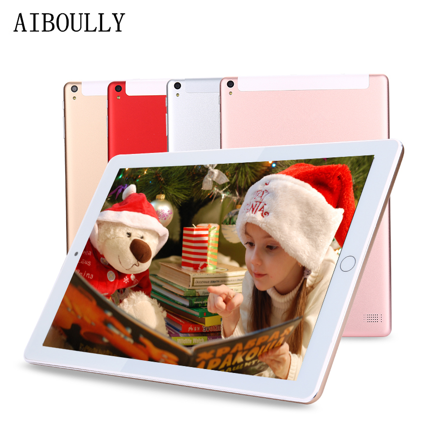 AIBOULLY Original Tablet PC 10.1 inch Android 7.0 OS Octa Core 4GB RAM 64GB ROM 32GB Phone Call Tablets with GPS WiFi 8 9.7'' недорго, оригинальная цена