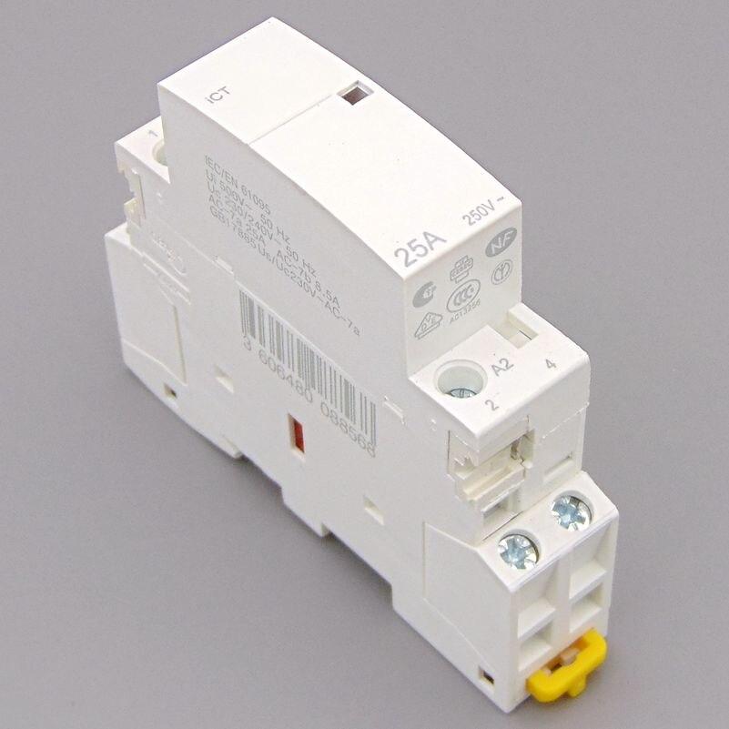 ct 25p - CT 2P 25A 220V/230V 50/60HZ Din rail Household ac contactor 2NO or 1NO 1NC