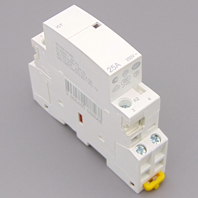 Ct 2 P 25A 220 V/230 V 50/60Hz DIN Rail contactor doméstico 2NO