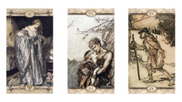 100% Original Rackham Tarot card all English Divination tarot set board game altar with instruction book