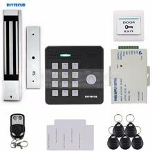 DIYSECUR Waterproof 125KHz Rfid Card Reader Access Control + 280Kg Waterproof Electric Magnetic Lock Access Control Security Kit
