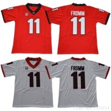 ad92852aa Men s Georgia Bulldogs 11 Jake Fromm College Jerseys - White Red Black  Stitched Size S-3XL Free Shipping
