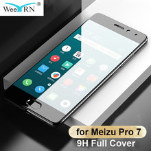 Clear Glass Meizu Pro 7 Tempered Glass Screen Protector Film for Meizu Pro 7 Black Full Cover Protective Glass for Meizu Pro 7(China)