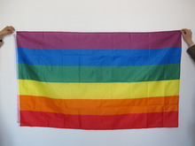 Free shipping New 90cm x 150cm Rainbow Flag 3x5 FT Polyester Gay Pride Peace Flags  gay flags