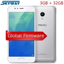 Orijinal MEIZU M5S Küresel firmware 3 GB RAM 32 GB ROM cep telefonu 5.2 inç octa çekirdekli Hızlı Şarj Cep telefonu