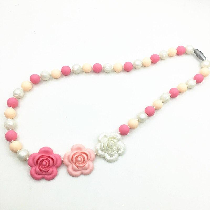 silicone teething necklace nursing bpa free fda