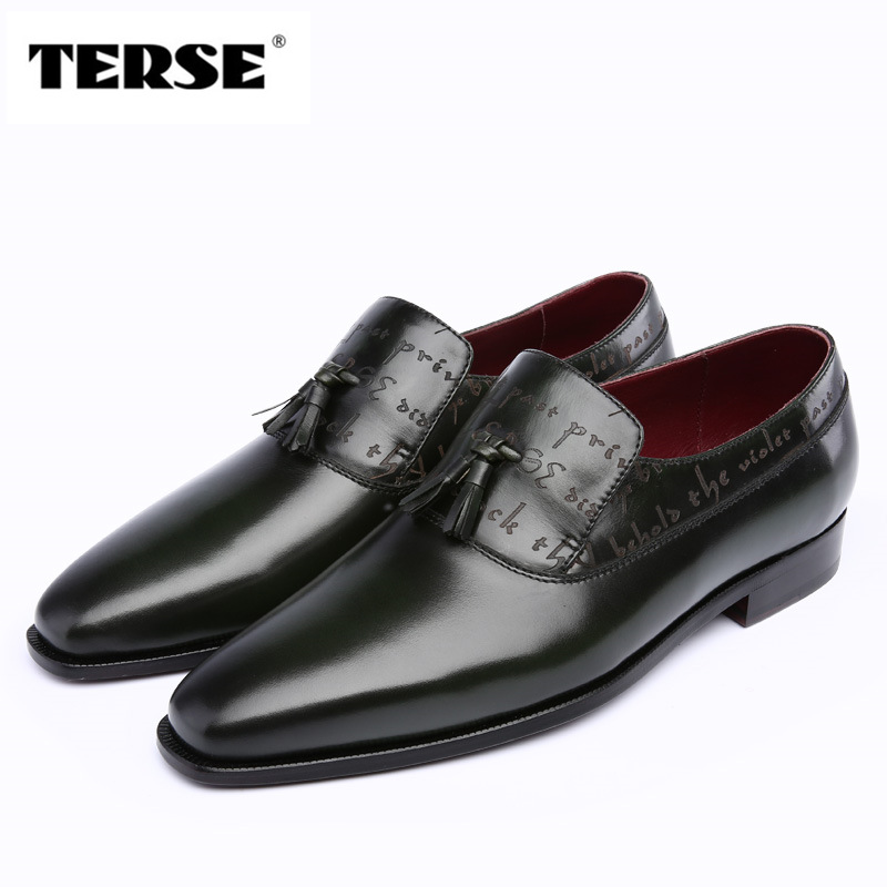 TERSE_5 MOQ monk shoes handmade Italian calf leather dress shoes men in 2 colors goodyear welted engraving service factory price luxury bespoke goodyear welted shoes elegant mens dress shoes italian unique boss wingtips shoes italian grooms wedding shoes