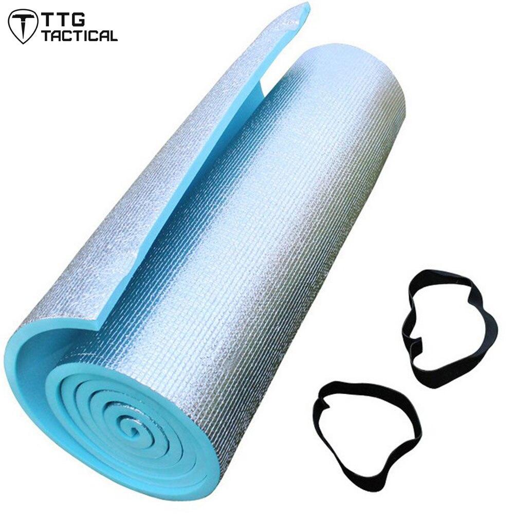 Aluminum Backing Foam Camping Mat Yoga Mat Pilates 10mm