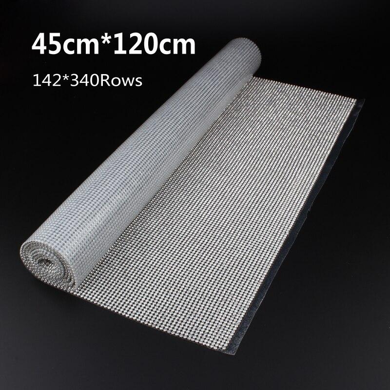 45 см * 120 см ss8 diamond исправление со стразами цепи с серебряной Алюминий база Кристалл отделкой сетки 1.2 м для одежды