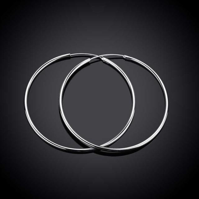 Sterling Silver Hoop Earrings 3