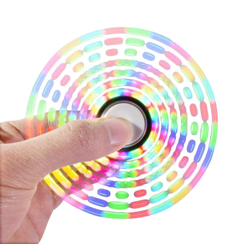 DIY Toys New Light Fidget Spinner Led Stress Hand Spinners Glow In The Dark Fidget Spinner Anti-stress Finger Spinner