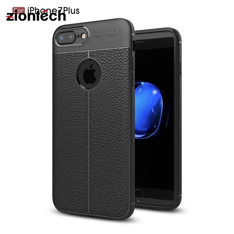 ZionTech Soft Case Cover For iPhone 7 Plus iPhone7Plus Cases For iPhone7Pro Lichi Texture Cases Shell Coque Fundas Housing