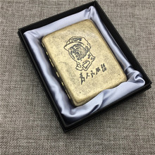 Chairman Mao Che Guevara US Marine Corps Classic Style Cigarette Case Bronze Material Box Smoking Accessory