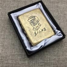 ФОТО chairman mao che guevara us marine corps classic style cigarette case bronze material cigarette case box smoking accessory