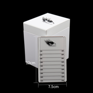 Image 3 - 5 Layers Lashes Display Stand Organizer Box False Eyelashes Glue Pallet Eyelash Extension Makeup Tool Eyelash Storage Box 534g