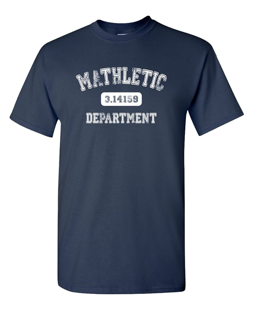 Letter Printing Print O-Neck Short Sleeve Tee Mathletic Funny Pi Math 3.14 Department For Men